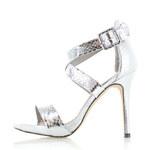 Bestelle Stříbrné sandály Savrina