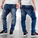 Just Rhyse Destroyed Carrot Jeans Blue