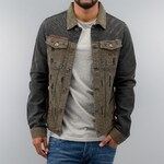 Just Rhyse Jeans Jacket Khaki/Dark Blue