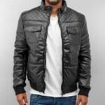 Dangerous DNGRS Fake Leather Winter Jacket Black