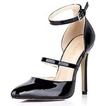LightInTheBox Patent Leather Women's Stiletto Heel Pointed Toe Pumps/Heels with Buckle