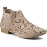 Kotníková obuv s elastickým prvkem CAPRICE - 9-25300-26 Taupe Suede