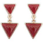 QianZi Vintage Punk Style Geometry Triangle Earrings