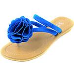 LightInTheBox Leatherette Women's Flat Heel Flip Flops Sandals Shoes with Flower(More Colors)