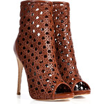 Giuseppe Zanotti Woven Leather Open Toe Ankle Boots