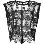 Zadig & Voltaire Sheer Embroidered Boxy Crop Top