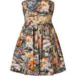 RED Valentino Cotton Floral Print Strapless Dress