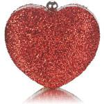 LS Červená kabelka Heartie