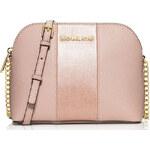 Michael Kors kožená kabelka Cindy stud saffiano leather crossbody ballet pink