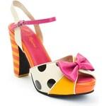 Lola Ramona Dámská obuv na podpatku 412216-71_Pink/yellow