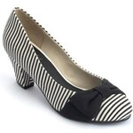 Lola Ramona Dámské lodičky 401630-99_Black white striped