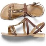 Blancheporte Sandály s textilní výšivkou