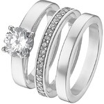CHRIST Silver Ring Set 3 tgl. silber