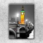 Xdecor Big Ben ve zlaté záři (70 x 50 cm) - Jednodílný obraz