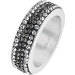 CHRIST Silver Ring silberfarben/schwarz