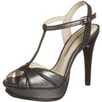 Buffalo Plateausandalette metal black silver