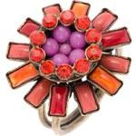 Konplott DORIS DAISY Ring pink/antiksilberfarben