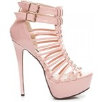 SERGIO TODZI Perfektní růžové vysoké dámské sandály