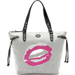 Juicy Couture kabelka knit glitter lips sport gray