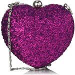 LS Fialová kabelka Heartie
