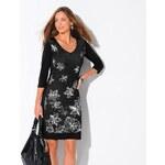 Blancheporte Šaty s kontrastním potiskem černá 42/44