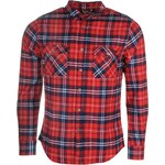 Lee Cooper Cooper Flannel Shirt Mens, red/navy/white