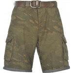 Firetrap Belt Shorts Mens, army green