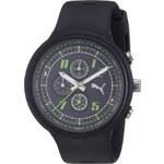 Pánské černé hodinky s chronografem a zelenými detaily Puma