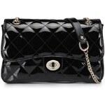 NUCELLE dámská kožená kabelka/psaníčko Queen černá