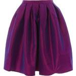 LA FEMME Fialová metalická midi sukně