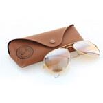 Světle hnědé sluneční brýle Ray-Ban Aviator Gradient