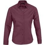 Dámská košile Eden - Vínově červená XS