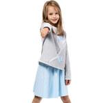 KIDIN Dětské světle šedé tričko KI002