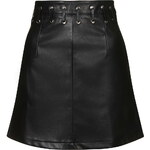Topshop **Eyelet Mini Leather-Look Skirt by Glamorous