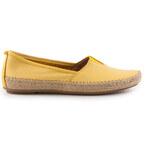 Jana - Dámské módní mokasíny s vyjímatelnou stélkou šíře G 8-24601-26 / žlutá