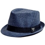 GUESS GUESS Woven Triangle Fedora - blue