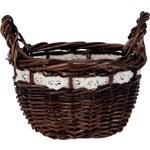 Sada čtyř proutěných košíků s dekorem (Ø 14 cm) (48999)