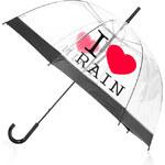 Tom&Eva Transparentní deštník I love rain