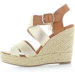 Zlaté platformové sandály XTI 45056