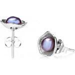 Buka Jewelry Buka Vpichovací náušnice Lotus – fialová 231