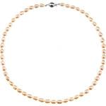 Buka Jewelry BUKA Perlový náhrdelník z oválných perel 6,5 bílý 730