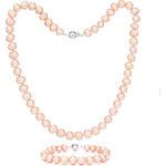 Buka Jewelry Buka Perlová souprava Mutiara 7,5 AA růžová 814