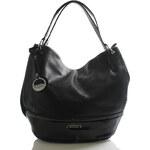 Černá luxusní prostorná kabelka přes rameno Silvia Rosa Meredith černá