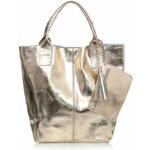 Genuine Leather Kožené kabelky Shopper bag Lakované zlatá