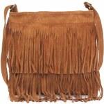 Genuine Leather Kožené kabelky listonošky přírodní semiš zrzavá