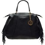 Glamorous by Glam Kožená kabelka s třásněmi černá