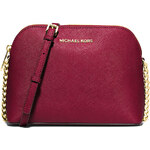 Michael Kors kabelka Cindy large dome crossbody merlot
