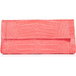 Nancy Gonzalez Fold-Over Crocodile Clutch