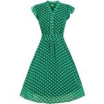 Dámské šaty Lindy Bop Kody zelené Velikost: 36