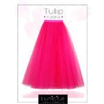 Luxusní tylová sukně Lunicite Fuchsiový tulipán L